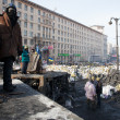 Stock Photo: Barricades in Kiev