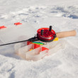 Stock Photo: Ice fishing rod