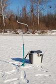 Ice fishing accessories — Foto de Stock