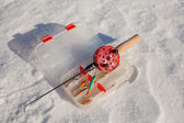 Ice fishing rod — Stock Photo
