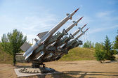 Air defense missiles — Stock Photo