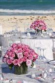 Rose's on a silver table — Stock Photo