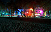 SOUTH BEACH,VIEW FROM THE BEACH — Stock Photo