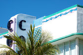 Close up of Art deco hotels in south beach, miami florida — Stock Photo