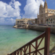 Saint Julians Bay in Malta - Stock Photo