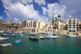 St Julians sea front at Spinola Bay — Stock Photo