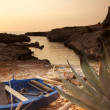 Sunset on a italian coast — Stock Photo
