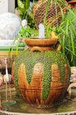 Pot garden fountain. — Stock Photo