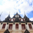 The metal palace in Thailand called Loha Prasart — Stok fotoğraf