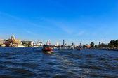 Boat on Chao Phraya river ,Bangkok,Thailand — Stock Photo