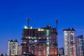 Paisagem de noite da cidade de banguecoque. — Foto Stock