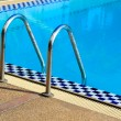 Stair with swimming pool - Stock Photo