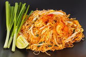 Thai food Pad thai , Thai style noodles. — Stock Photo