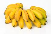 Banana bunch group on white background. — Stock Photo