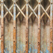 Pattern old iron door — Stock Photo