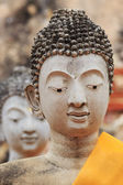 Face of the statue of Buddha at Ayutthaya Thailand. — Stock Photo