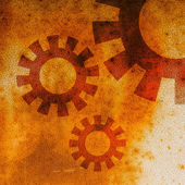 Grunge gears background. — Stock Photo