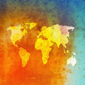 Grunge world map background — Stock Photo