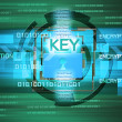 Stock Photo: Background of security concept. Encryption information and data.