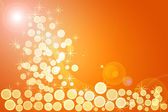 Decorative christmas background with lights and stars — Stock Photo