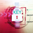 Background of security concept. Encryption information and data. — Stock fotografie