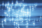 Decorative christmas background with lights and stars — Foto de Stock