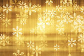Decorative christmas background with lights and snowflakes — Stock Photo