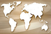 Background in technology and the world map — Stock Photo