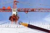 Progettare e sviluppare un piano di costruzione — Foto Stock