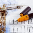 Stock Photo: Design and develop construction plan
