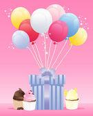 Verjaardagscadeau — Stockvector