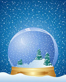 Christmas dome — Stock Vector
