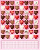 Schokolade-herzen — Stockvektor