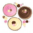 Royalty-Free Stock Vector Image: Rose cupcakes