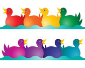 Toy ducks — Stock Vector