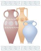 Greek urns — Stock Vector