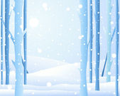 Winter forest — Stockvector
