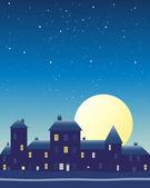 Big moon — Stock Vector