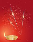 Diwali maytap — Stok Vektör