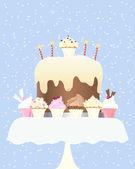 Cupcake birthday — Stock Vector