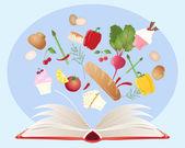 Recipe book — Stock Vector
