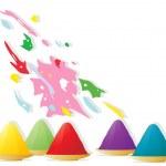 Holi colors — Stock Vector