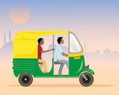 Tuk tuk taxi — Stock Vector