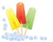 Ice lollies — Stock Vector