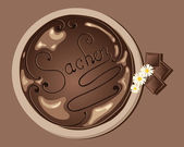 Sacher cake — Stock Vector