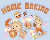 Pâtisseries maison — Vecteur