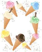 Ice cream advert — Stock Vector