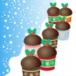 Stock Vector: Christmas buns