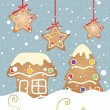 Xmas gingerbread — Vector de stock