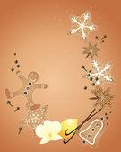 Kerstmis specerijen — Stockvector